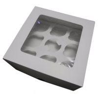 Упаковка с окном для капкейков, на 1, 2, 6 и 9 капкейков, белая, h - 11 см., поштучно
