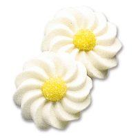 Белые ромашки, сахарные фигурки