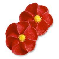Красные цветы, сахарные фигурки