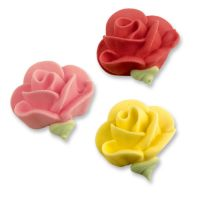 Розочки разноцветные, сахарные фигурки