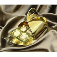 Упаковка для конфет, 9*10*h5 см., золотая, поштучно