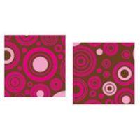 Трафаретный лист-пленка круги, цвет малиновый и розовый