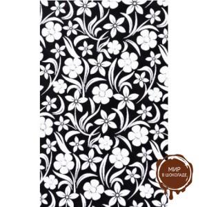 Трафаретный лист-пленка белые цветы