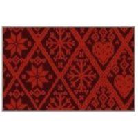 Трафаретный лист-пленка вышивка, цвет красный
