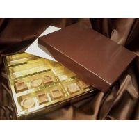 Упаковка для конфет, 22,5*20*h3 см., темно-коричневая, поштучно