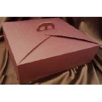 Упаковка для торта, 38 х 38 х h12 см., рубиновая