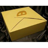 Упаковка для торта, 33 х 33 х h12 см., желтая