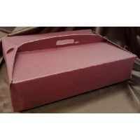 Упаковка для торта 36 х 47 х h12 см., рубиновая