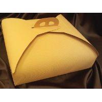 Упаковка для торта 39 х 39 х h10 см., желтая