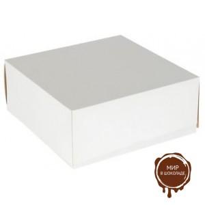 Короба для тортов белые, упаковка - 50 шт. и 75 шт.