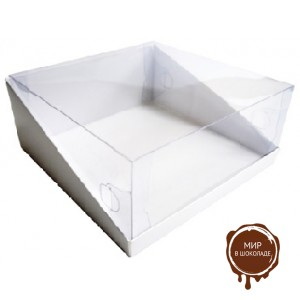 Короба с прозрачной крышкой из пластика для тортов, упаковка, 50 штук.