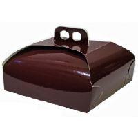 Упаковка для торта 25 х 25 х h10 см., рубиновая. Нет в наличии