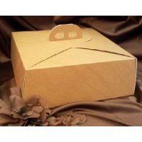 Упаковка для торта светло-коричневая, в ассортименте