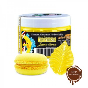 Краситель концентрированный водорастворимый желтый лимон, Deco Relief, Франция, 50 гр.