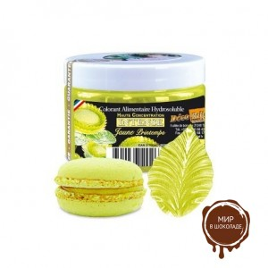 Краситель концентрированный водорастворимый желтый весна, Deco Relief, Франция, 50 гр.