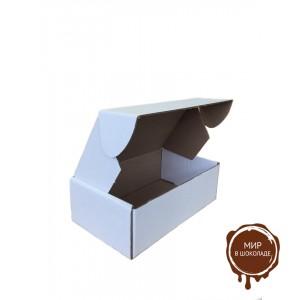 Гофрированная картонная коробка 170*105*55 для пирожного из микрогофрокартона бел/бур