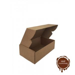 Гофрированная картонная коробка 170*105*55 для пирожного из микрогофрокартона бур/бур