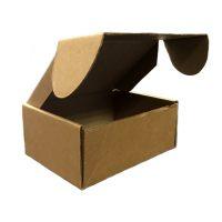 Гофрированная коробка 125*100*55 под пирожное из микрогофрокартона бур/бур