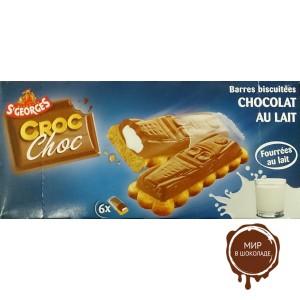 Печенье с молочным шоколадом и молочной начинкой