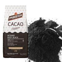 Какао-порошок INTENCE DEEP BLACK черный 10-12% жирность, Van Houten, 1 кг.