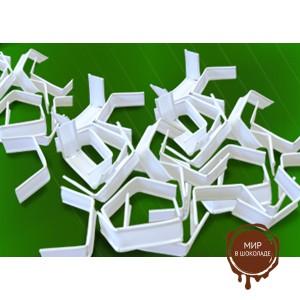 Клип-лента белая в нарезке 5 см загнутая, пакет 500 шт.
