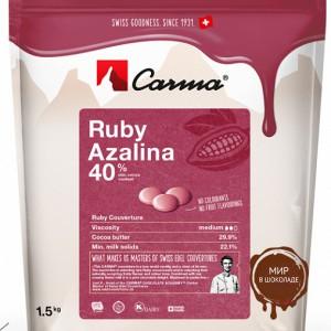 Рубиновый шоколад Carma Ruby Azalina 40% какао в монетах, 1,5 кг.