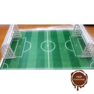 Сахарное футбольные поле с пластиковыми воротами, 1 шт.