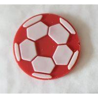 """Декор """"Футбольный мяч"""" красный , коробка 640 шт"""