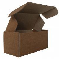 Гофрированный ящик бур/бур 120*60*60 для пирожных из микрогофрокартона