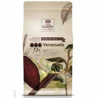ТЕМНЫЙ КУВЕРТЮР VENEZUELA 72 % какао, монеты, Cacao Barry /Франция/, 1 кг.