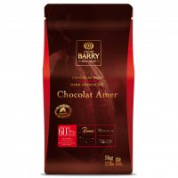 ТЕМНЫЙ КУВЕРТЮР AMER 60% какао, монеты, Cacao Barry /Франция/, 5 кг.
