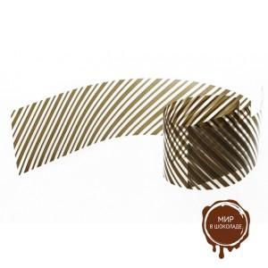 Бордюрная лента пленка Диагональ для обтяжки тортов 40 мкм., h 40 мм, 510 м, 1 ролик