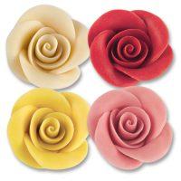 Фигурки марципановые розы в ассортименте, большие