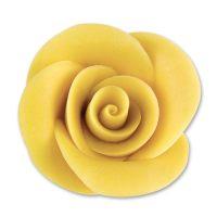 Фигурки марципановые розы, большие желтые