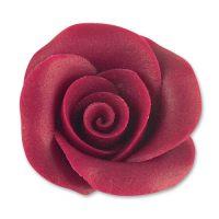 Фигурки марципановые розы, большие бордовые