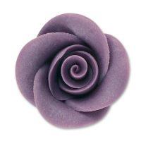 Фигурки марципановые розы, большие фиолетовые