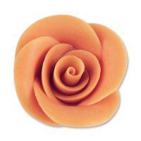 Фигурки марципановые розы, большие коралловые