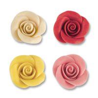 Фигурки марципановые розы в ассортименте, средние