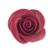 Фигурки марципановые розы, средние бордовые