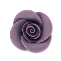 Фигурки марципановые розы, средние фиолетовые