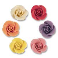 Фигурки марципановые розы в ассортименте, маленькие