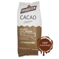 Какао-порошок NATURAL LIGHT BROWN 10-12% жирность, Van Houten, 1 кг.