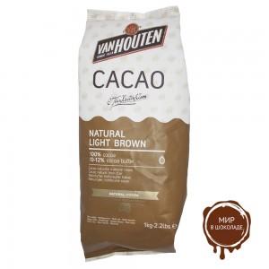 Какао-порошок NATURAL LIGHT BROWN 10-12% жирность, Van Houten, 1 кг.