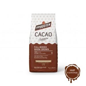 Какао-порошок FULL BODIED WARM BROWN 22-24% жирность, Van Houten, 1 кг.