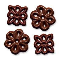 Шоколадные цветочки, маленькие