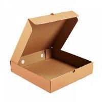 Гофрированная коробка для пирога 240*240*60 из микрогофрокартона бур/бур (Д 22-24 см)