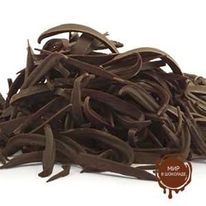 Украшения шоколадные ПОЛОСКИ темные 15 мм Бельгия, 2 кг.