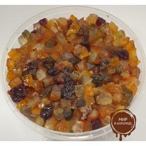 Засахаренные Фруктовый салат кубики Agrimontana 6*6 мм, 3 кг.