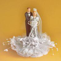 """Свадебная пара из фaрфора """"Серебряная свадьба"""", с открывающимся основанием, 1 шт."""