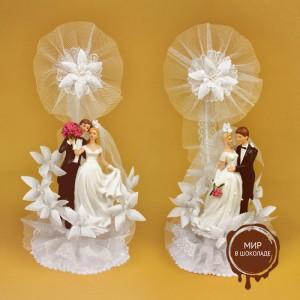 Свадебная пара в двух вариантах, с открывающимся основанием, 2 шт.